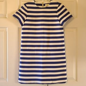 Nwot Kate Spade blue and white stripe dress